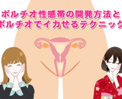 ポルチオ性感帯の開発方法と子宮でイかせるテクニック
